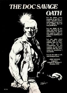 I think the Doc Savage oath really is better than the Green Lantern oath: