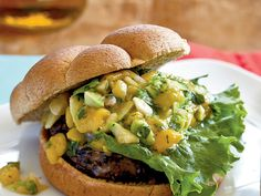 Black beans, cilantro, and spices enhance the flavors in these veggie burgers, but it's the avocado-mango salsa that makes this recipe shine.View Recipe: Black Bean Burgers with Mango Salsa