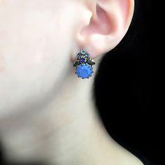 Konplott 'La Maitresse' Purple Flowerbud Stud Earrings | Alexandra May Jewellery