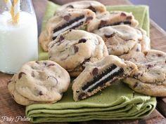 Oreo stuffed chocolate chip cookies!!!!!!  yummm