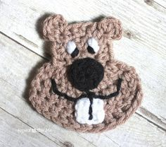 Repeat Crafter Me: Groundhog Crochet Applique Pattern