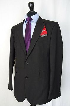 ceff72ab2 Men's Black Regular Fit Suit 40R W36 L31 AA714 #fashion #clothing #shoes #