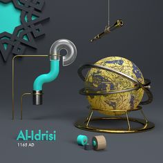 "• Al-Idrisi • see the full project ""Candles in the dark"" https://www.behance.net/gallery/59344675/Candles-in-the-dark #cinema4d #Houdini #arabic #alphabet #letters #cg #c4d #3d #render #digitalart #art #abstract #everyday #mograph #daily #graphics #design #photoshop #rsa_graphics #surrealism #dailyrender #realistic #cyberpunk #Science #medieval #Islamic #beauty #typography"