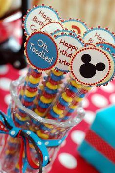 Mickey Mouse Birthday Party! http://media-cache5.pinterest.com/upload/131589620331732172_vS75XuyD_f.jpg cathylval party ideas