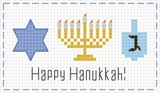 Celebrate Hanukkah with our free Stitch People Hanukkah Sampler! Hanukkah For Kids, Hannukah, Happy Hanukkah, Cross Stitch Samplers, Cross Stitch Embroidery, Embroidery Patterns, Cross Stitch Patterns, Christmas Charts, Christmas Cross