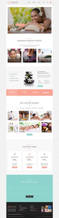 Jacqueline is premium WordPress theme for #spa, beauty salon or #wellness center #website. Download Now!