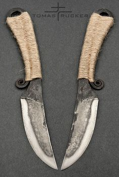 """""""Celtic"""" knife 2, forged 19191 steel, Tomas Rucker"""