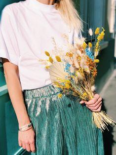 Bouquet Fleurs Séchées — Lemon Curd Business Attire, Casual Wear, High Waisted Skirt, Tulle, How To Wear, Clothes, Csf, Wordpress, Fashion