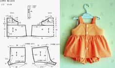 Sewing for kids girls free pattern diy baby 34 super Ideas Baby Dress Patterns, Baby Clothes Patterns, Sewing Patterns For Kids, Sewing For Kids, Baby Outfits, Kids Outfits, Baby Sewing Projects, Little Girl Dresses, Sewing Clothes