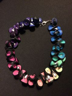 Polymer clay rainbow necklace!!!