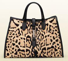 c80c895a47c4 Gucci Jackie Soft Tote, Leopard Calf Hair Leopard Bag, Leopard Spots,  Leopard Prints