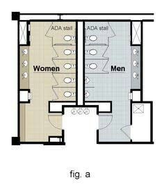 ADA Guidelines For Five Toilets Or Less on Ada Bathroom Dimensions - Best Bathrooms Design Ideas Half Bathroom Remodel, Bathroom Floor Plans, Bathtub Remodel, Shower Remodel, The Plan, How To Plan, Wc Symbol, Wc Public, Toilet Plan