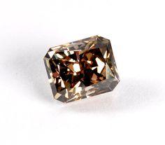 077 ct Fancy Chocolate Brown Radiant Cut Loose Diamond by baffy21, $1299.00