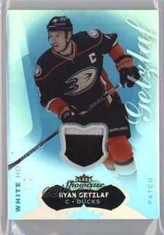99be12e9a02 2014-15 Fleer Showcase White Hot Jerseys Prime Memorabilia #48 Ryan Getzlaf  Card