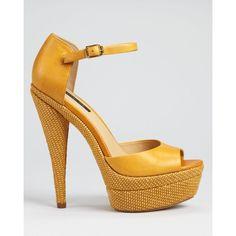Rachel Zoe Sandals - Bardot Open Toe ($325) found on Polyvore