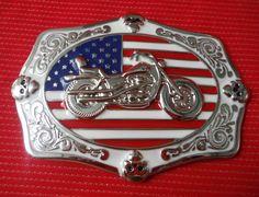 AMERICAN FLAG CHOPPER BIKE BIKER EASY RIDER MOTORCYCLE MOTORBIKE BELT BUCKLE | eBay
