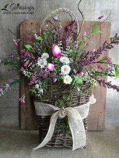 Spring Centerpiece | from Gatherings at Muncy Creek Barn Works