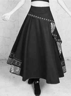 Great use of scrap fabric – Artofit Boho Outfits, Skirt Outfits, Pretty Outfits, Fashion Outfits, Skirt Fashion, Boho Fashion, Fashion Looks, Flamenco Skirt, Pakistani Fashion Casual