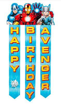Avengers Assemble Birthday Banner