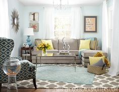 Such a happy living room!