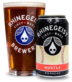 Rhinegeist | Hustle | Rye Pale Ale 5.4% ABV 35 IBU. Best Rye Pale Ale on the market.