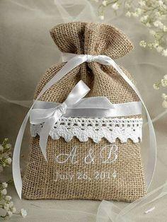 Custom listing Rustic Burlap Wedding Favor Bag , Lace Wedding Favor, County Style GIFt - amazing world of handmade gifts Burlap Wedding Favors, Wedding Favours To Make, Wedding Favor Bags, Wedding Crafts, Lace Wedding, Burlap Weddings, Wedding Dresses, Burlap Projects, Burlap Crafts