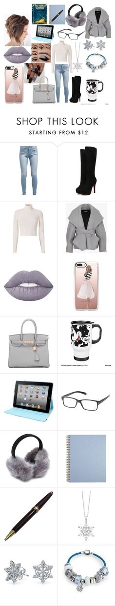 """Untitled #101"" by marieborrero on Polyvore featuring Levi's, A.L.C., Balmain, Lime Crime, Casetify, Hermès, Natico, Gatsby, Montblanc and Bling Jewelry"