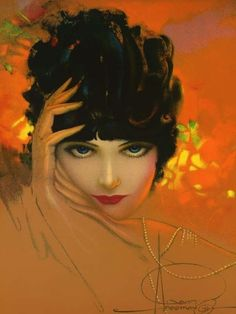 Art Nouveau Art Deco Rolf Armstrong Dream Girl Woman in Pearls Rolf Armstrong, Pinup Art, Gil Elvgren, Illustration Art Nouveau, Beauty Illustration, Art Deco, Portraits, Living At Home, Woman Painting