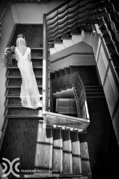 Tandem Photography - Lucy and John 17. The stairwell at The George. www.thegeorge.com/functions-weddings/weddings/
