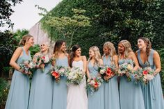 Late Summer Bridal Party Style - Charleston wedding photography - Riverland Studios