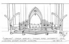 Computer Sketch, Wedding Stage Design, Set Design Theatre, Little Shop Of Horrors, Theatre Stage, Stage Set, Scenic Design, Design Reference, Backdrops