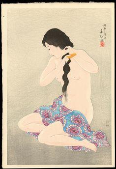 Natori_Shunsen-Three_Beauties_by_Shunsen-Combing_Her_Hair-011880-09-19-2012-11880-x2000.jpg 1.370×2.000 pixels