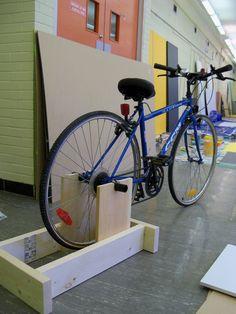 Exercise Bike Stand for regular bike Bike Stand Diy, Bicycle Stand, Bicycle Rack, Range Velo, Best Exercise Bike, Indoor Bike Trainer, Diy Home Gym, Outdoor Gym, Bike Storage