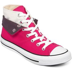 Converse Chuck Taylor(R) Foldover High-Top Sneakers ($45) ❤ liked on Polyvore
