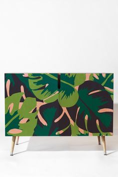 Zoe Wodarz Patio Party Credenza | DENY Designs Home Accessories tropical leave monsteriosa