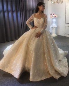 Little Girl Wedding Dresses, Fancy Wedding Dresses, Wedding Dress Prices, Prom Dresses Long With Sleeves, Princess Wedding Dresses, Bridal Dresses, Wedding Gowns, Long Party Gowns, Beautiful Dresses For Women
