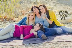 Sisters or mother and daughters pose