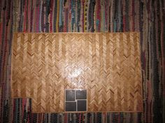 Two tutorials for the price of one: make a dollhouse herringbone floor from coffee stirrers and make yourself cuckoo.