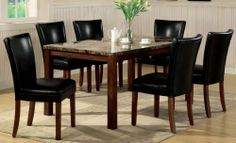 7pc Dining Table & Parson Chairs Set Black Leather Like Rich Cherry Finish by Coaster Home Furnishings, http://www.amazon.com/dp/B002X3FTAI/ref=cm_sw_r_pi_dp_Yx5Mrb1K8WKCA