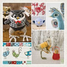 Little Birds / 26 one-of-a-kind projects, from artistic to folksy to whimsical/ The variety of materials & embellishments is sure to inspire you to make every bird in the book/ These little sweeties make delightful gifts & the perfect pets! Beginner-friendly projects work well with scraps, fat quarters, & upcycled fabrics. This adorable book is all about the birds! From budgies to owls to peacocks, these projects will pique your curiosity & make your heart sing! Many talented designers bri.....