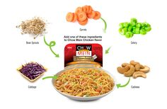 Which one of these yummy ingredients will you add to your Chow Mein Chicken flavor?