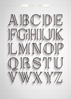 London by Antonio Rodrigues Jr, via Behance I like this typography because it looks classy and vintage. It reminds me of a type you would see on an old time black and white movie. It gives more depth to the letters by having the extra lines in the them. Its simple but bold at the same time.: