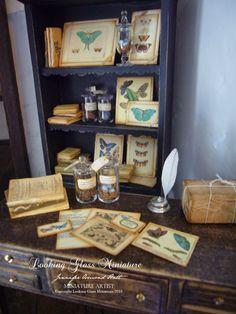 Maison de poupées miniature 1:12th échelle INK POT /& Quill