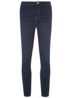 Womens Indigo Fly Front 'Lyla' Jeans- Blue