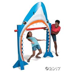 Our Shark Limbo Kit is the perfect party game for your luau party, birthday party or beach party! Fun for the kids and adults alike, set this cardboard limbo ...