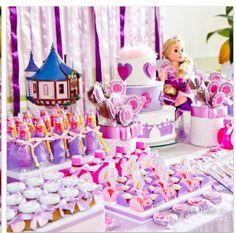 Rapunzel candy table