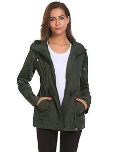 Amazon.com  Romanstii Windproof Coat Women Trench Jacket Hooded Windbreaker  For Travel Hiking Outdoor 850f23442