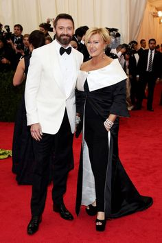 The 20 Most Stylish Couples at the 2014 Met Gala: Hugh Jackman and Deborah Lee Furness