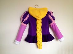 Disney Princess Tangled Inspired Rapunzel Fleece Girls hoodie shirt ...