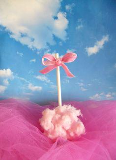 sweet pink cloud (sweet cotton round a bonbon) original idea , my daughter's birthday party